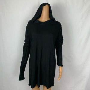 Brandy Melville Ribbed Hoodie Tunic Hooded Shirt